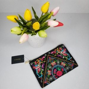 NWT Forever 21 Embroidered Clutch
